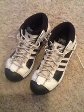Adidas TS Pro Model Mens Size 12.5 ~ White / Black Basketball Athletic Shoes