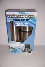 Green Canteen 16oz Stainless Steel Travel Mug Set W/ Vacuum Flask & Case NEW!