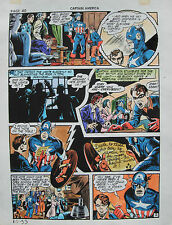 JACK KIRBY Joe Simon CAPTAIN AMERICA #10 pg 33 HAND COLORED ART Theakston 1989