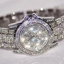 Mens Bling Watches Fashion Diamond Luxury Rhinestone Wristwatch Quartz Watch