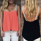 New Summer Sexy Womens Crop Tops Blouse Cami Sleeveless Vest Top Shirt Plus Size