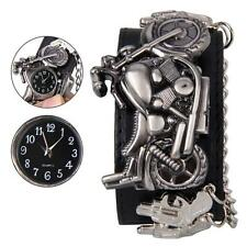 New Punk Rock Chain Skull Band Women Men Bracelet Watch Cuff Gothic Wrist Watch