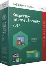 Kaspersky Internet Security 2017 1 PC 1 User For 1 Year Latest Version Antivirus