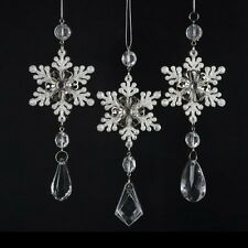 NEW 3pc Snowflake Xmas Decor Christmas Ornament Party Decoration Holiday Baubles