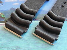 NOS SEIKO 20MM FAT SPRING BARS 4 CURVED VENT SCUBA DIVER RUBBER WATCH BAND STRAP