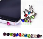 Diamond 3.5MM Anti Dust Plug Cap Stopper Cover FOR Apple iphone ipod itouch UK