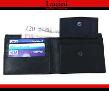 MENS NEW HIGH QUALITY SOFT BLACK LEATHER WALLET,CASH NOTE,CARD HOLDER
