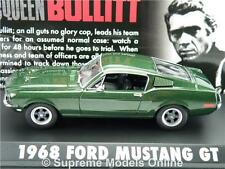 FORD MUSTANG GT BULLITT MODEL CAR 1968 1:43 GREENLIGHT GREEN SPORTS BULLIT T312Z