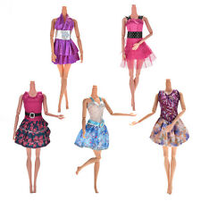 Lot 5X Handmade Wedding Dress Party Gown Clothes Outfits For Barbie Doll Gift CO