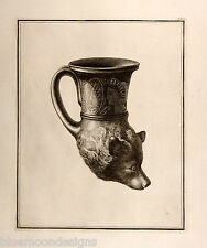 William Hamilton 1801 Apulian bear's head rhyton Antik Trinkgefäß Bär Greek Vase