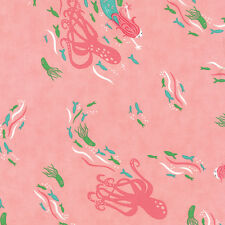 MODA Fabric ~ CORAL QUEEN OF THE SEA ~ by Stacy Iest Hsu (20511 15) by 1/2 yard