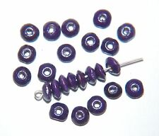 Action ~ 40 x en bois slim blotter perles ~ 6x2mm ~ royal purple