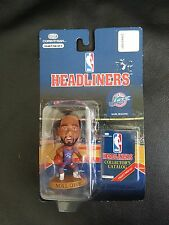 1996 Karl Malone HEADLINERS NBA UTAH JAZZ Corinthian has bend in plastic