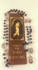 Seven Sorrows / Dolors Chaplet Rosary Glass Beads with Sorrows Medals