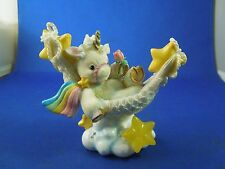 Vintage 1995 Enesco Starlight Starbright Unicorn Figurine Relax and Enjoy