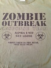 VINTAGE ZOMBIE OUTBREAK RESPONSE TEAM T SHIRT SMALL