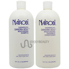 Nairobi Dandra-Solv Shampoo 32oz and Conditioner 32oz with Free Roll-on Body Oil