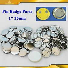 "1"" 25mm 100Sets All metal Pin Badge Button Parts Supplies for Pro Button Maker"