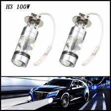 2 Pcs 100W H3 LED bulb 20 SMD Car Auto Fog light Cree 12V~24V 360 Degrees White