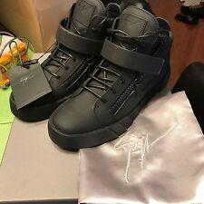 NEW GIUSEPPE ZANOTTI Black Ankle-Strap Double-Zip Sneakers SZ 42 (9)