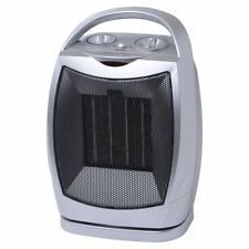 1500W CERAMIC OSCILLATING ELECTRIC FAN HEATER COLD/INSTANT HEAT HOME WORK OFFICE