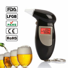 Digital Alcohol Breath Tester Breathalyzer Analyzer Detector Test Keychain Best
