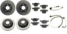 BMW E39 530i 540i Complete Brake Kit with Pads Rotors and Sensors