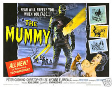 THE MUMMY LOBBY TITLE CARD POSTER 1959 CHRISTOPHER LEE PETER CUSHING HAMMER FILM