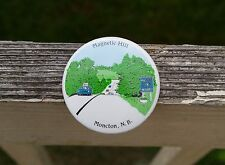 """Magnetic Hill Moncton, N.B."" 2 1/4"" Round Metal Pin Pinback Button"