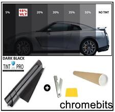 PRO ANTI-SCRATCH CAR VAN WINDOW TINT FILM TINTING DARK BLACK LIMO 15% 76cm x 3M