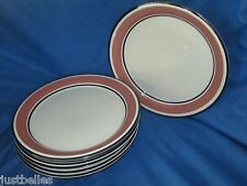 Ranmaru TREND ROSE Dinner Plate (s)  Blue & Pink band *have more pieces to set*