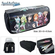 Sword Art Online SAO Kirito Asuan Cosmetic Pouch Bag Anime Zipper Pencil Case
