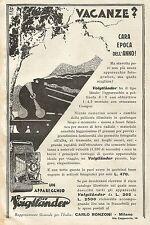 W0267 Apparecchi Fotografici VOIGTLANDER - Pubblicità 1930 - Advertising