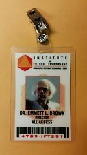 Back To The Future ID Badge - Institute of Future Tech. Dr. Emmett Brown cosplay
