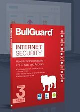 BullGuard Internet Security Protection Software 3PC's 1 Year With 5GB Cloud