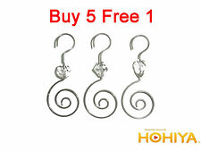 Hot 36pcs Silver Swirl Decorative Christmas Tree Ornament Hooks Hangers