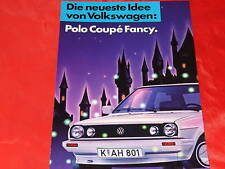 "VW Polo Coupe ""Fancy"" Sondermodell Prospekt von 1987"