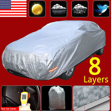 8 Layer SOFT Outdoor Waterproof Car Cover Snow Sun Ice UV Rain Dust Resistant A1