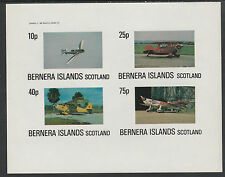 GB Locals - Bernera 2853 - AIRCRAFT imperf sheetlet unmounted mint