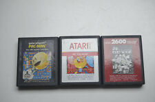 ATARI 2600 ---------- PAC MAN + Ms. PAC MAN + Jr. PAC MAN --- Alle Teile !!!