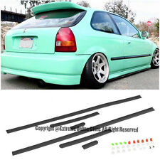 JDM STYLE THIN SIDE MOLDING HONDA CIVIC 96-00 2DR 3DR COUPE HATCHBACK TRIM PANEL