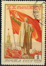 Russia Communist Leader Lenin Flag stamp 1956