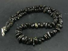 RARE NUUMITE NUUMMITE NECKLACE FROM GREENLAND 20 INCHES
