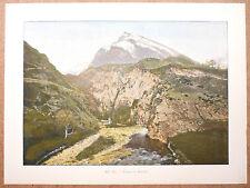 ENTRÉE DU HOURAT Pyrénées-Atlantiques - Gravure fin 19ème  photochromie