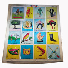 Mexican Jumbo size Loteria Bingo Card Game Authentic For 10-players Net wt 8-oz