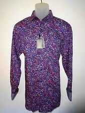 Bugatchi Uomo Long Sleeve Designer Shirt - Midnight Blue Floral - XL - NWT $199