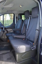 Ford TRANSIT Van 2014 Onwards Tailored & Waterproof Front Black Seat Covers