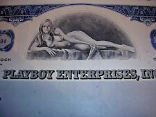 PLAYBOY Stock Certificate! -Last Chance!-FOR VALENTINE'S DAY!