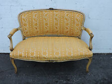 French Carved Distressed Painted Love Seat Settee 8056