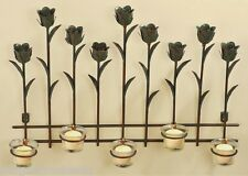 """Tulip Tealight Candle Holder Metal Sconce 3D Wall Art Spring Floral 20""""x14"""""""
